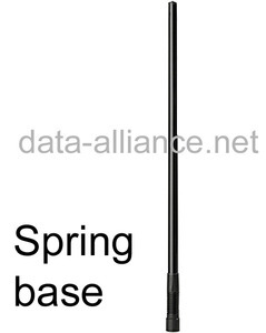 Antenna w/ Spring-Base 7.4dBi omni 2.4GHz for wireless/WiFi. N-male connector